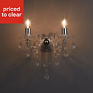 Annelise Chrome effect Wall light