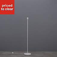 Colours Glennon Gloss White Eco halogen Floor lamp base