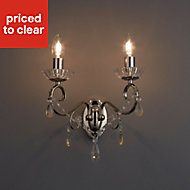 Chesworth Chandelier Polished Nickel effect Double Wall light