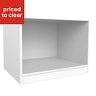 Form Darwin White Bedside cabinet (H)546mm (W)750mm (D)566mm