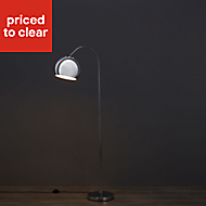 Ardery Chrome effect Halogen Floor lamp
