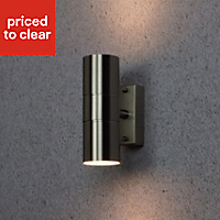 Blooma Somnus Brushed LED PIR Outdoor Wall light 35W
