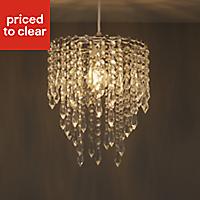 Colours Agassiz Clear Crystal effect Beaded Light shade (D)250mm