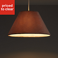 Colours Clain Brown Velvet effect Light shade (D)310mm