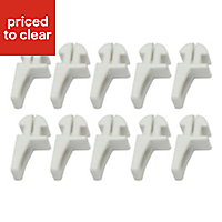 White Plastic Curtain hook (L)19.1mm, Pack of 10