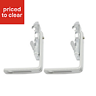 White Metal Curtain track bracket (L)32mm, Pack of 2