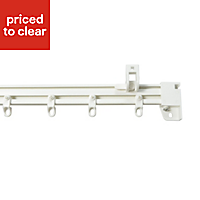 Corded White Fixed Curtain track, (L)2.7m