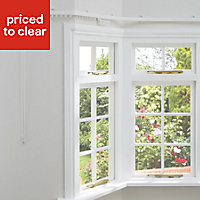 Corded White Fixed Curtain track, (L)4m