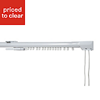 Corded White Extendable Curtain track, (L)1.8m