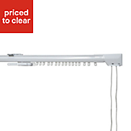 Corded White Extendable Curtain track (L)400 cm