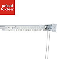 Corded White Extendable Curtain track, (L)4m
