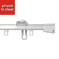 Uncorded White Fixed Curtain track, (L)1.2m