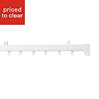 Uncorded White Fixed Curtain track, (L)1.5m
