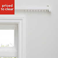 Uncorded White Fixed Curtain track, (L)2.7m