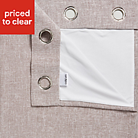 Thornbury Shrewmouse Lined Eyelet Curtains (W)167cm (L)228cm, Pair