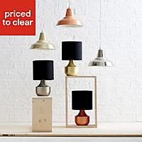 Medes Brushed Copper effect Halogen Table lamp base