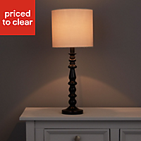 Portland Gloss Black Halogen Table lamp base