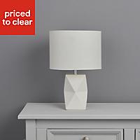 Camia Geometric White Incandescent Table lamp