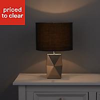 Camia Geometric Chrome effect Incandescent Table lamp