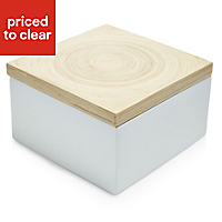 White Lacquered Bamboo 8 drawer Storage box