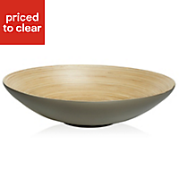 Bamboo Dish, Taupe Lacquered