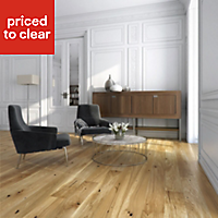 Colours Chamili Oak effect Real wood top layer flooring, 1.37m² Pack
