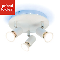 Spectrum Colour changing White Gloss 3 Lamp Ceiling light