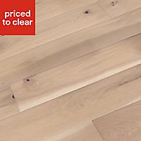 Colours Bredene cream Oak effect Real wood top layer flooring, Sample