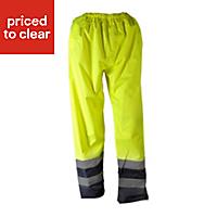 """Blue & hi-vis yellow Waterproof Trousers W26"""" L29"""""""