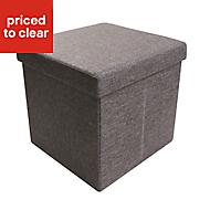 B&Q Black 1 Drawer Storage ottoman cube (H)375mm (W)375mm (D)380mm