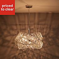 Sagitta Chrome effect 3 Lamp Pendant Ceiling light