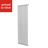 Ottawa Vertical Radiator White (H)1600 mm (W)480 mm
