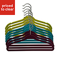 B&Q Flocked childrens clothes hangars, Pack of 8