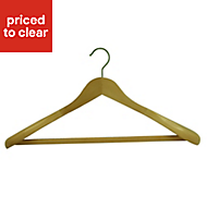 B&Q Wooden coat hanger
