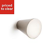 B&Q Brushed nickel effect Cone Bedroom Knob Cabinet handle (W)25.5 mm