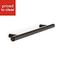 B&Q Black T-bar Bedroom Handle Cabinet handle (W)8 mm