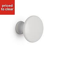 B&Q White Round Bedroom Knob Cabinet handle (W)30 mm