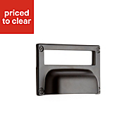 B&Q Black Matt Apothecary Bedroom Handle Cabinet handle (W)52 mm