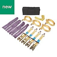 4m Ratchet straps, Pack of 4