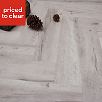 White Oak effect Luxury vinyl click flooring, 1.25m² Pack