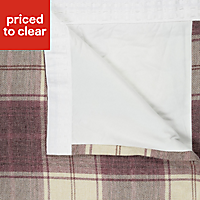 Esmeralda Purple Check Thermal lined Pencil pleat Curtains (W)117cm (L)137cm, Pair