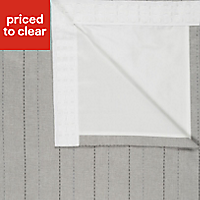 Enara Brown Pinstripe Lined Pencil pleat Curtains (W)228cm (L)228cm, Pair