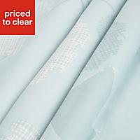 Centola Duck egg Leaves Lined Pencil pleat Curtains (W)228cm (L)228cm, Pair