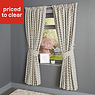 Edeva Grey Diamond Lined Pencil pleat Curtains (W)117cm (L)137cm, Pair