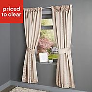 Endora Plain Lined Pencil pleat Curtains (W)117cm (L)137cm, Pair