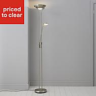 Mericourt Brushed Chrome effect Floor lamp