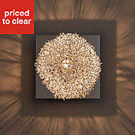 Electro Wire ball Chrome effect Wall light
