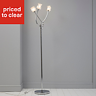 Borrello Chrome effect Floor lamp