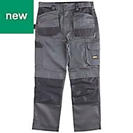 "Site Jackal Grey/Black Men's Trousers, W32"" L30"""