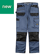 "Site Jackal Grey/Black Men's Trousers, W32"" L34"""